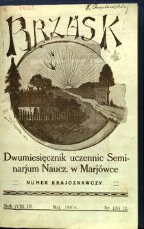 Brzask: Dwumiesięcznik uczennic Seminarium Nauczycielskiego w Mariówce, 1930, R. (7) 3, nr (28) 12