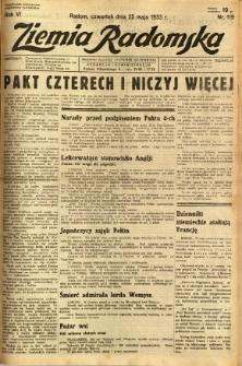 Ziemia Radomska, 1933, R. 6, nr 119