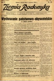 Ziemia Radomska, 1933, R. 6, nr 126