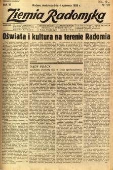 Ziemia Radomska, 1933, R. 6, nr 127