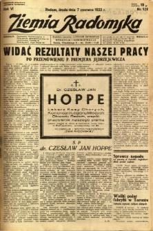Ziemia Radomska, 1933, R. 6, nr 128