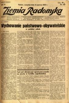 Ziemia Radomska, 1933, R. 6, nr 129
