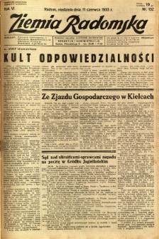 Ziemia Radomska, 1933, R. 6, nr 132
