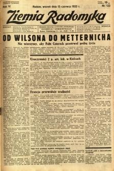 Ziemia Radomska, 1933, R. 6, nr 133