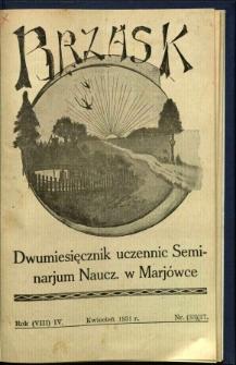 Brzask: Dwumiesięcznik uczennic Seminarium Nauczycielskiego w Mariówce, 1931, R. (8) 4, nr (33) 17