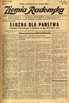 Ziemia Radomska, 1933, R. 6, nr 137