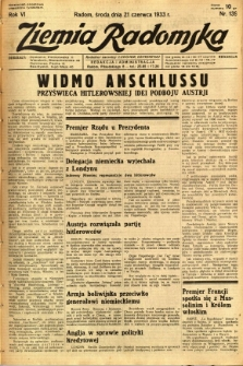 Ziemia Radomska, 1933, R. 6, nr 139