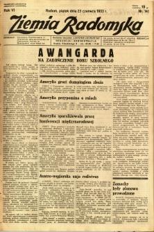 Ziemia Radomska, 1933, R. 6, nr 141