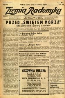 Ziemia Radomska, 1933, R. 6, nr 144