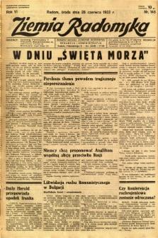 Ziemia Radomska, 1933, R. 6, nr 145