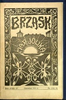 Brzask: Dwumiesięcznik uczennic Seminarium Nauczycielskiego w Mariówce, 1931, R. (8) 4, nr (34) 18