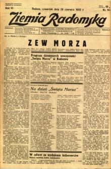 Ziemia Radomska, 1933, R. 6, nr 146