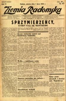 Ziemia Radomska, 1933, R. 6, nr 147