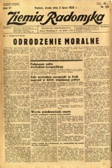 Ziemia Radomska, 1933, R. 6, nr 150