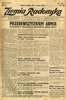 Ziemia Radomska, 1933, R. 6, nr 152