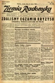 Ziemia Radomska, 1933, R. 6, nr 156