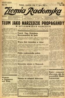 Ziemia Radomska, 1933, R. 6, nr 169