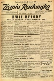 Ziemia Radomska, 1933, R. 6, nr 174