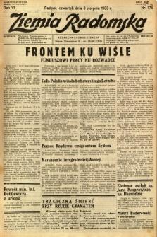 Ziemia Radomska, 1933, R. 6, nr 175