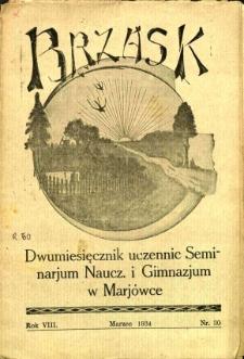 Brzask: Dwumiesięcznik uczennic Seminarium Nauczycielskiego w Mariówce, 1935, R. 8, nr 30