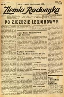 Ziemia Radomska, 1933, R. 6, nr 181