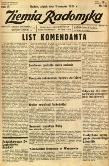 Ziemia Radomska, 1933, R. 6, nr 182