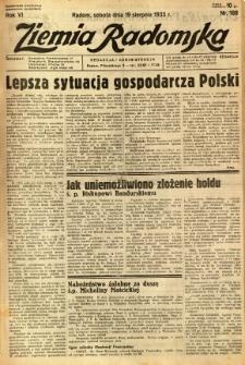 Ziemia Radomska, 1933, R. 6, nr 188