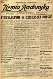 Ziemia Radomska, 1933, R. 6, nr 191