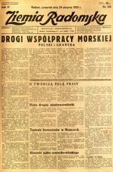 Ziemia Radomska, 1933, R. 6, nr 192