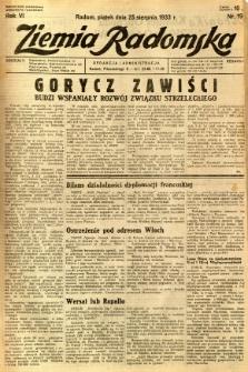 Ziemia Radomska, 1933, R. 6, nr 193