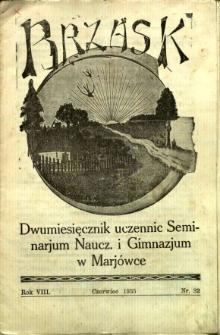 Brzask: Dwumiesięcznik uczennic Seminarium Nauczycielskiego w Mariówce, 1935, R. 8, nr 32