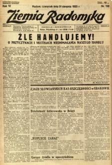 Ziemia Radomska, 1933, R. 6, nr 198