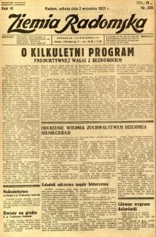Ziemia Radomska, 1933, R. 6, nr 200
