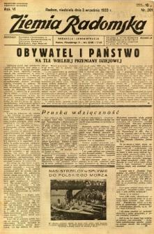 Ziemia Radomska, 1933, R. 6, nr 201