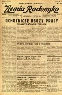 Ziemia Radomska, 1933, R. 6, nr 202