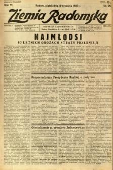 Ziemia Radomska, 1933, R. 6, nr 205