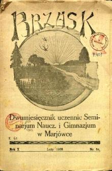 Brzask: Dwumiesięcznik uczennic Seminarium Nauczycielskiego w Mariówce, 1936, R. 10, nr 34