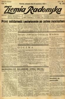 Ziemia Radomska, 1933, R. 6, nr 208