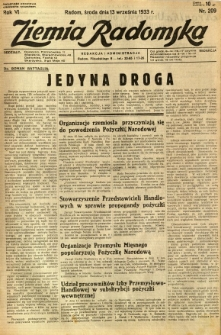 Ziemia Radomska, 1933, R. 6, nr 209