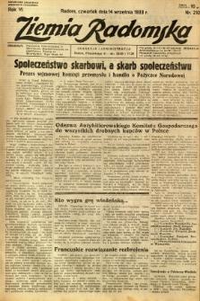 Ziemia Radomska, 1933, R. 6, nr 210