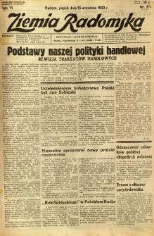Ziemia Radomska, 1933, R. 6, nr 211