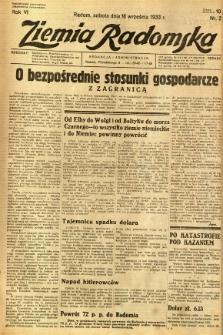 Ziemia Radomska, 1933, R. 6, nr 212