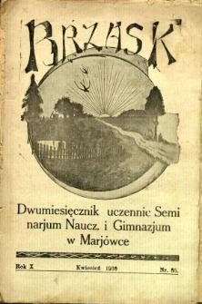 Brzask: Dwumiesięcznik uczennic Seminarium Nauczycielskiego w Mariówce, 1936, R. 10, nr 35
