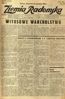 Ziemia Radomska, 1933, R. 6, nr 217