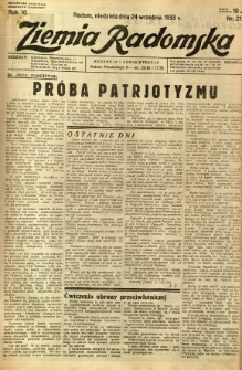 Ziemia Radomska, 1933, R. 6, nr 219