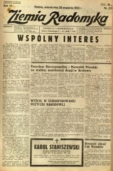 Ziemia Radomska, 1933, R. 6, nr 220