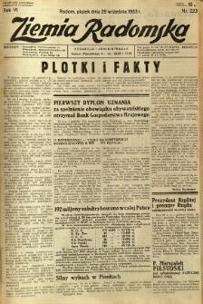 Ziemia Radomska, 1933, R. 6, nr 223