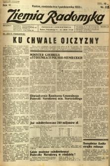 Ziemia Radomska, 1933, R. 6, nr 225