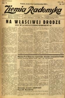 Ziemia Radomska, 1933, R. 6, nr 227
