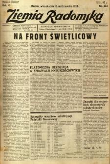 Ziemia Radomska, 1933, R. 6, nr 232